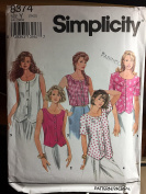 Simplicity 8374 Y Misses Tops for sizes 18-22