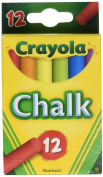 Crayola Chalk Assorted Colours 12 Sticks/Box