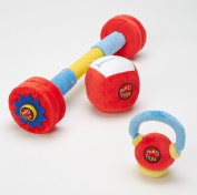 WOD Toys Baby Complete Plush Set - Safe, Durable Fitness Toys for Newborns, Infants and Babies