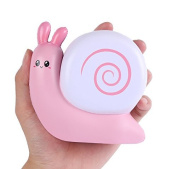 Aolige Jumbo Squishy Cute Pink Snails Kawaii Cream Scented Very Slow Rising Decompression Squeeze Toys