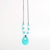 Wwin Tear-drop Shaped Pendant Baby Teething Silicone Mash-up Necklace Baby Shower Gift Chewing Toys Mon Jewellery Teether Autism Sensory Nursing