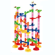 Maggift Marble Runs Toy Set Translucent Marbulous 75 Pieces 30 Glass Marbles