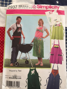 Simplicity 2937 6-styled aprons for men, women and teen sizs XS-XL