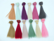 B Set Of 12 Colour SD Doll DIY Straight Hair 15cm100cm BJD/- For Arts and Crafts, Doll Making, and More
