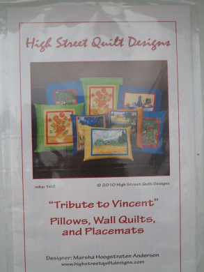 Tribute To Vincent Craft Pattern ( Pillows, Wall Quilts, Placemats )