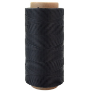 260m 150D 1 mm Leather Sewing Waxed Thread, Ishua Thread Cord Sewing Craft For DIY Leather Tool Hand Stitching Black
