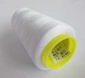 3000 Yards White Reel 40s 2 402 Tex 27 Tickets Size 120 Spools Polyester PP SP Sewing Thread Hand Machine industrial Embroidery Yarn Quilting Serger Clothes