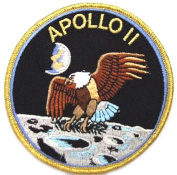 InspireMe Family Owned NASA Apollo 11 Mision Patch/Applique Embroidered Sew/Iron-on Patch/Applique 10cm