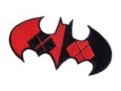 InspireMe Family Owned DC Comics Batman Harley Quinn Logo Embroidered Sew/Iron-on Patch/Appliquees 5.1cm x 10cm