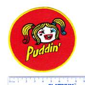 """Cute Harley Quinn """"Puddin"""" Girl Shirt Patch 8cm - Cool Patches - Iron On - Funny - Parody"""
