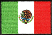 Mexico Flag with Black Border Patch (7.6cm X 5.1cm ) $3.95 with FREE FREIGHT from San Diego Leather