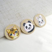 YABINA 10PC Embroidery Panda Cat Rabbit Iron on Sew on Patches Embroidery Applique Patches for Jeans, Neckline Collar Bust Dress, Clothing, Bags