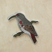 5 Pcs of Hanging on Birds DIY Applique Embroidered Patch Iron On Or Sewing On