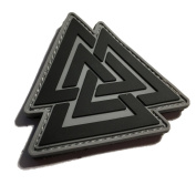 The Viking Odin Symbol Valknut Unicursal Design 7.6cm x 7.6cm Ancient Valhalla PVC Morale Patch