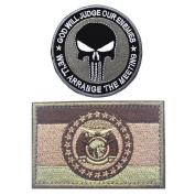 Embroidery USA MISSOURI State Flag and Punisher Tactical patches