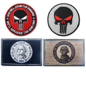 Embroidery USA WASHINGTON State Flag and Punisher Tactical patches