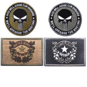 Embroidery USA NEVADA State Flag and Punisher Tactical patches
