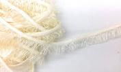 Off white Cord-edge Loop Fringe Piping Trim -Lip Cord for Clothing Pillows, Lamps, Draperies 5 Yards Pi-129/108