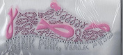 Hope Pink Ribbon Breast Cancer Awareness MOTIF Iron On Rhinestone Applique Transfer Iron on T Shirt Design