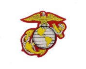 USMC EGA 15cm Iron On Centre Patch for Motorcycle Rider or Bikers Marine Corps Veteran Vest