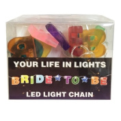 Celebration In Lights LED String Light Banner, Bride to Be