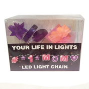 Celebration In Lights LED String Light Banner, #1 Mom