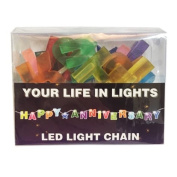 Celebration In Lights LED String Light Banner, Happy Anniversary