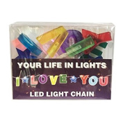 Celebration In Lights LED String Light Banner, I Love You