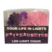 Celebration In Lights LED String Light Banner, #1 Daughter