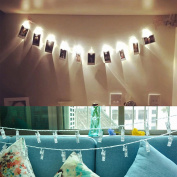10 Photo Clips in String Lights 5m Hanging Picture Fairy Lights in Warm White for Home Decor, Birthdays & Parties