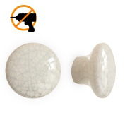 DDhome 2 Pack Cracked Button Shape Ceramic Nail and Glue Free Self-adhesive Hook Magic Instals on the Smooth Surface Ornament Hook Home Deco Hook Support up to 3kg/3kgs.