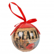 Seattle Christmas Stamp Ball Ornament
