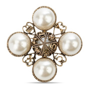 MISASHA Classic Elegant Inspired Faux Imitation Pearl Pin Brooch