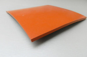 0.6cm SILICONE RUBBER SHEET HIGH TEMP SOLID RED/ORANGE COMMERCIAL GRADE 20cm x 20cm SQ