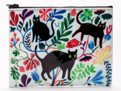 Blue Q Zipper Pouch Here Kitty