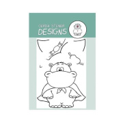 Hippo in Disguise Clear Stamp Set 7.6cm x 10cm