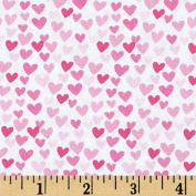 Timeless Treasures Hearts Pink Fabric By The Yard