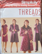 SIMPLICITY PATTERN 4408 WOMENS' PETITE DRESS OR TOP, SKIRT, PANTS AND LINED COAT SIZE FF 18W-24W