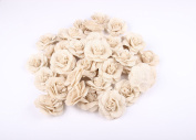 Junxia Natural Burlap Flowers for Wedding Party Decoration(6pcs)