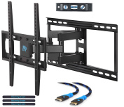 Mounting Dream MD2380-24 TV Wall Mount Bracket with Full Motion Articulating Arms for most 26-55'' LED, LCD, OLED and Plasma TVs up to VESA 400 x 400mm and 45kg. Fits 16'', 18'', 24'' wood studs.