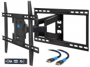 Mounting Dream MD2296-24 TV Wall Mount Bracket with Full Motion Articulating Arms for most 42-70'' LED, LCD, OLED and Plasma TVs up to VESA 600 x 400mm and 45kg. Fits 16'', 18'', 24'' wood studs.