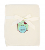 American Baby Company Fleece Blanket, Ecru, 80cm x 80cm
