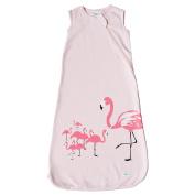 Wee Urban Cosy Basics 4 Season Baby Sleeping Bag, Pink Flamingo, Small 0-6m