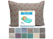 TODDLER PILLOW CASE - Pink Flamingo. 13x18 up to 14x19. CUDDLY, SUPER SOFT microfiber fabric. Easy to wash & no ironing. Handmade in USA.100% SATISFACTION GUARANTEE. Best Toddler & Travel Pillowcase.