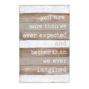 Mud Pie . We Imagined Nursery Wall Plaque, Grey