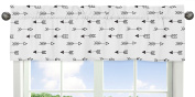 Arrow Print Window Treatment Valance for Black and White Fox Collection