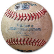 Yasiel Puig Game Used Baseball 6/13/2014 Ground Out vs. Harris Dodgers HZ167419 - MLB Autographed Game Used Bases