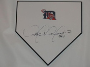 Victor Martinez Signed Home Plate Detroit Tigers Autographed All Star - MLB Game Used Bases