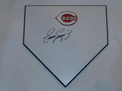 Eugenio Suarez Signed Home Plate Cincinnati Reds Autographed Proof - MLB Game Used Bases