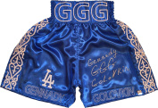 """Gennady """"GGG"""" Golovkin Signed LA Blue Boxing Trunks - Autographed Boxing Robes and Trunks"""